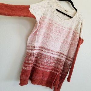 Free People Oversized Burnt Orange Sweater M/L